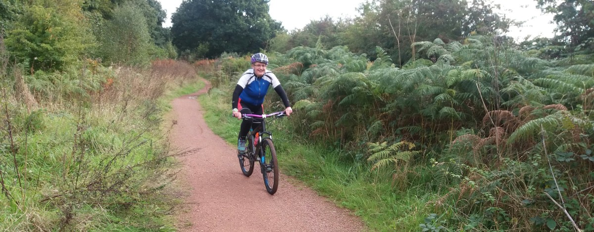 Heading up National Cycle Network Route 6 to Clumber Park. It's a great way to access much of the Mountain Biking around Sherwood Forest