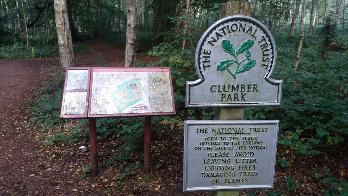 There's plenty of visible signage around Clumber Park to explore on your bike without getting lost.