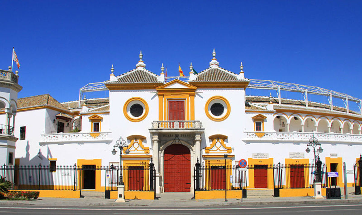 The Plaza de Toros de la Real Maestranza de Caballeria is located in Seville, Spain and is the country's oldest bullring.  Construction of the historic building began in 1749.