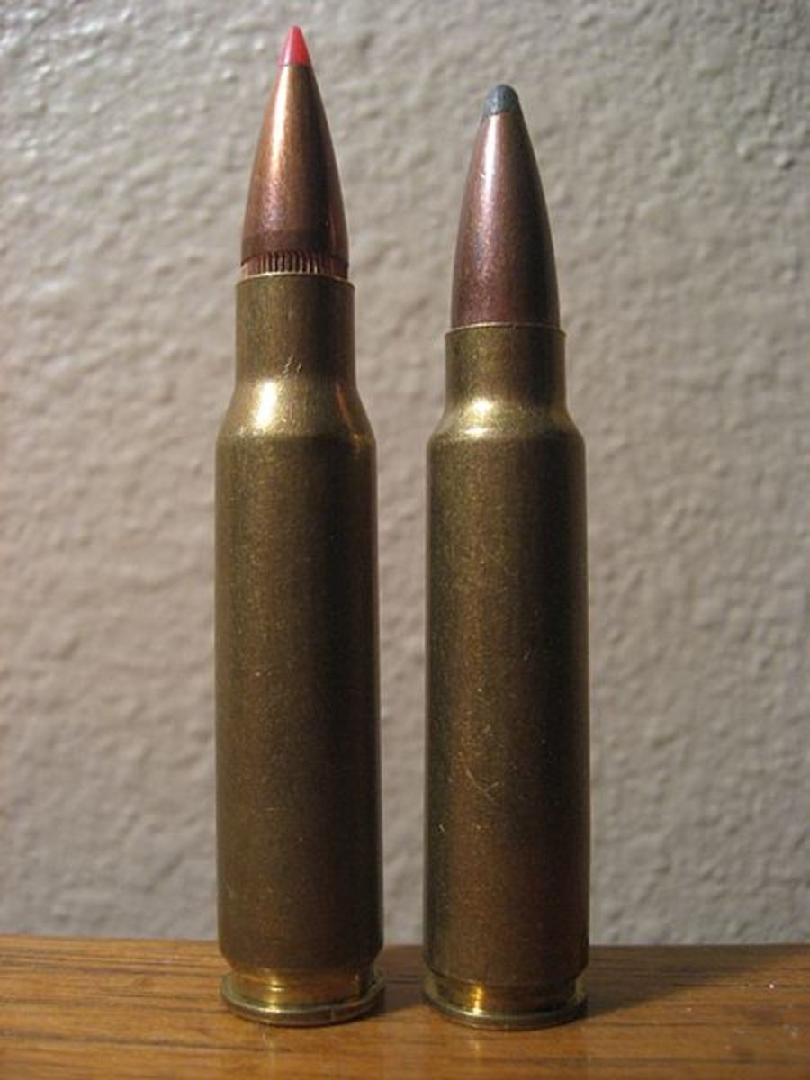 .308 Winchester (L) next to its parent, the .300 Savage (R).