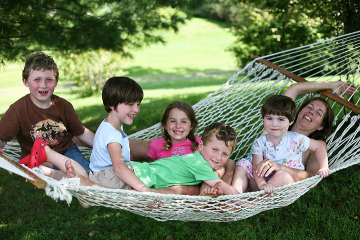 Hammocks are a great spot for family snuggles
