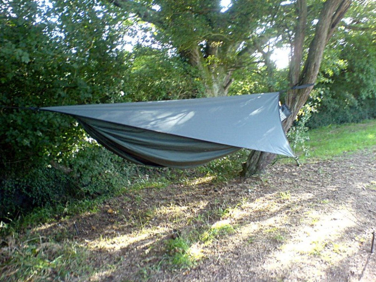 Camping Hammock with Rain Tarp