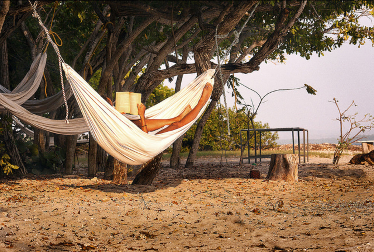Hammocks are a great spot to read