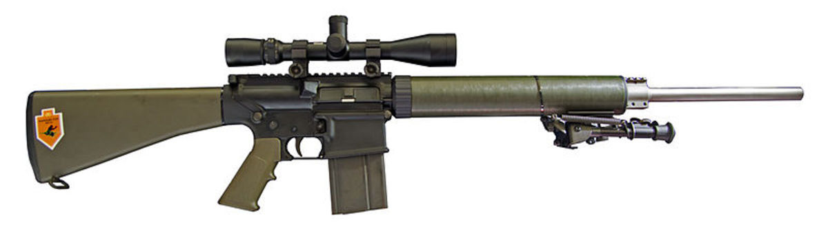This AR-10 has a floating stainless steel barrel