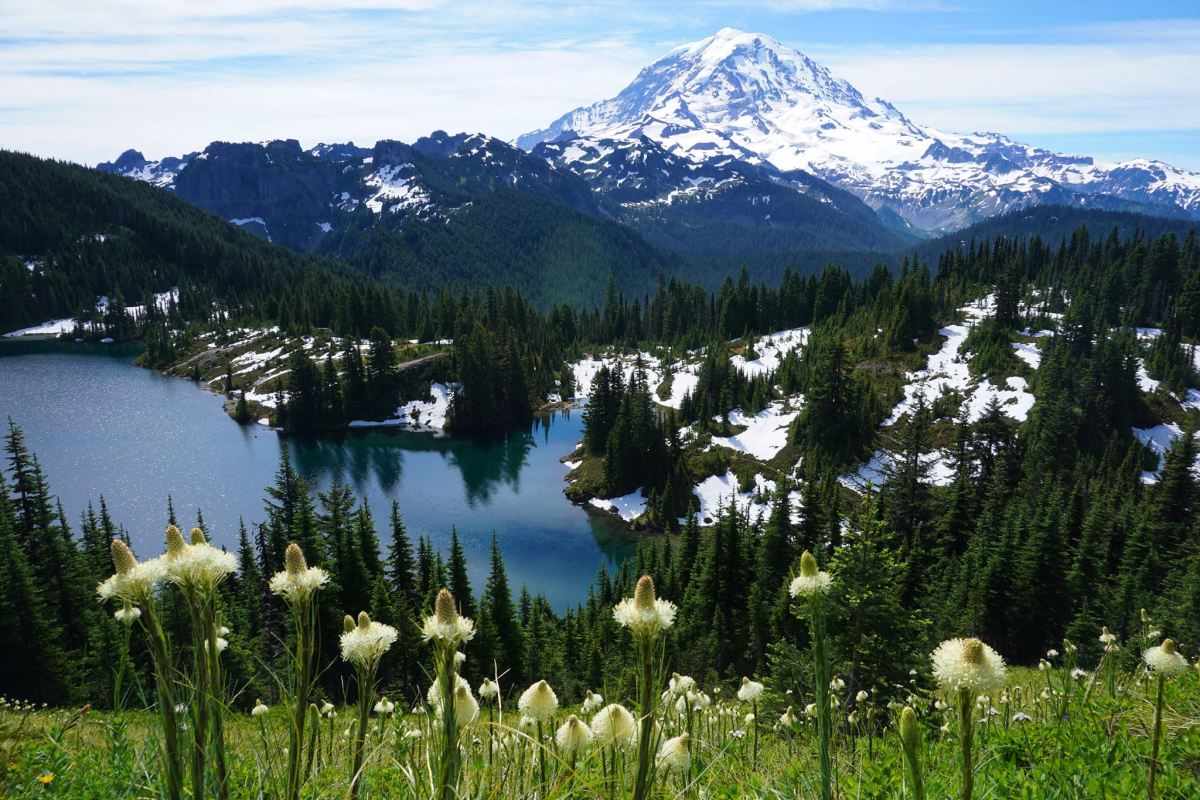 The Tolmie Peak Lookout hike provides some of the best views of Mt. Rainier that you will find on any hike in the area.