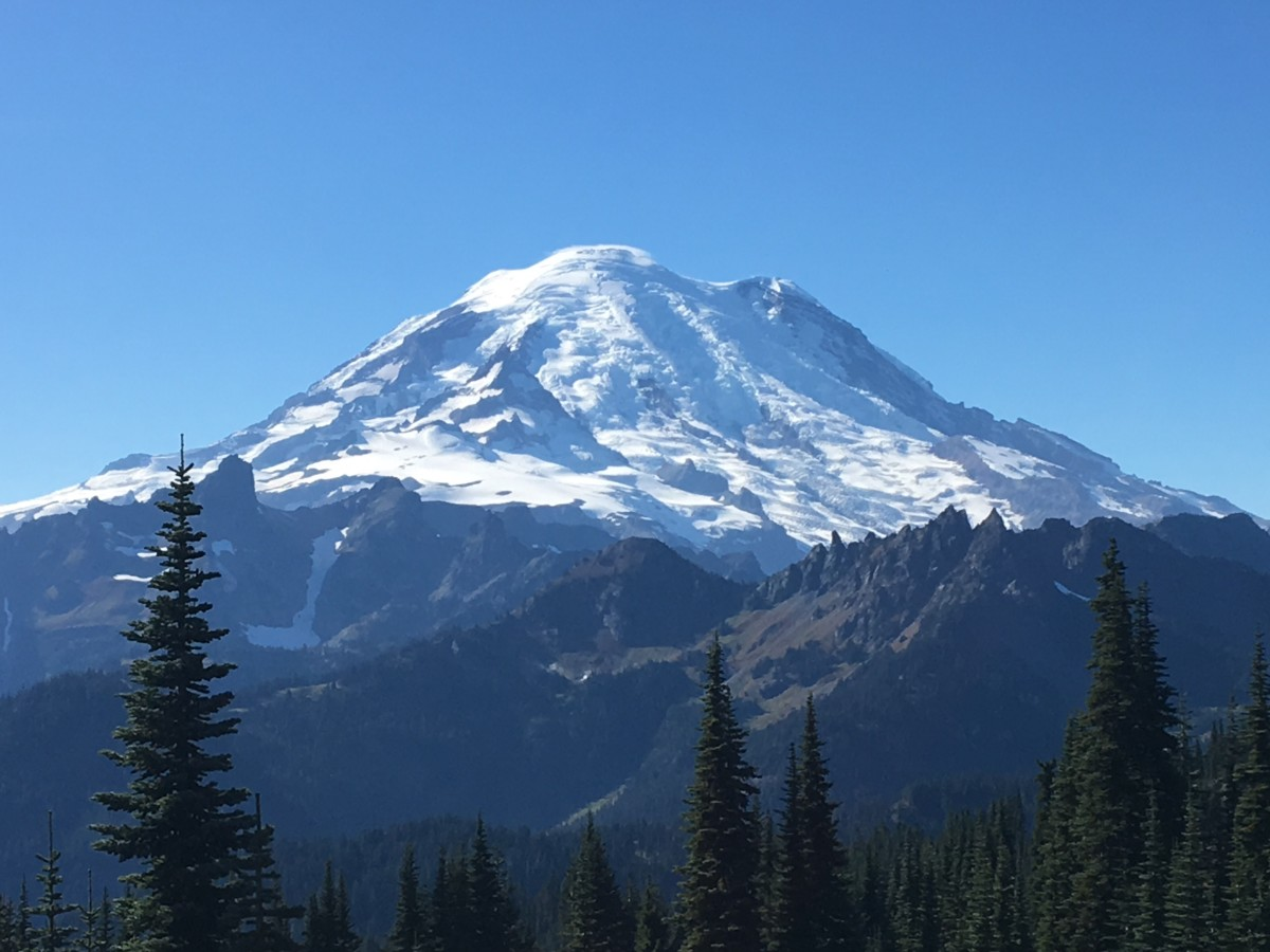 Another great view of Mt. Rainier from the trail