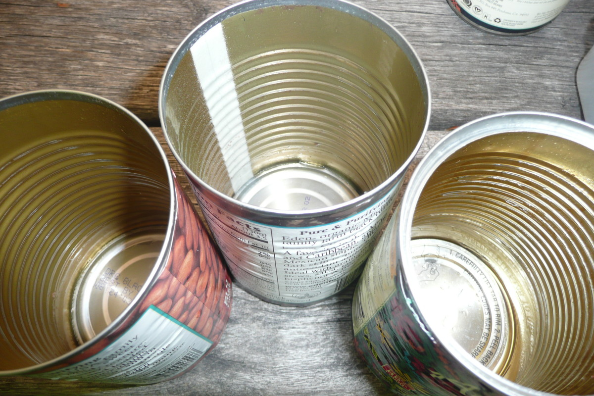 These aluminum cans are thoroughly cleaned and ready for recycling.
