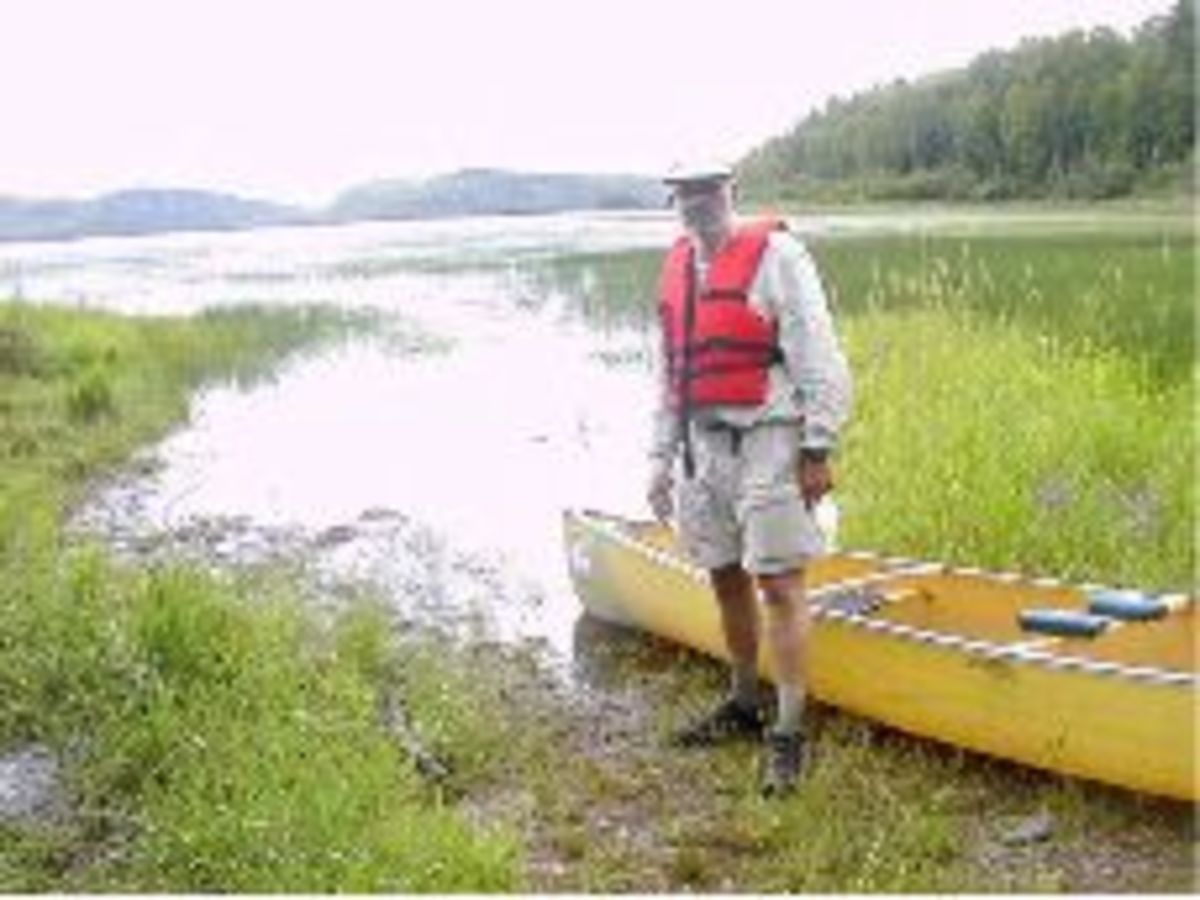 """Allen a/k/a """"Stumped"""" at the end of a portage."""