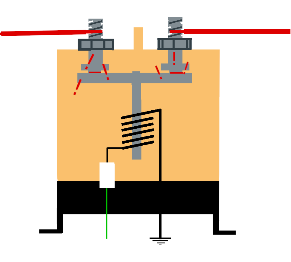A fused starting solenoid