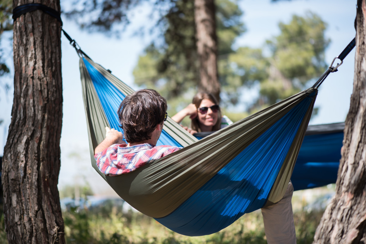Backpacking hammocks can make great outdoor gifts.