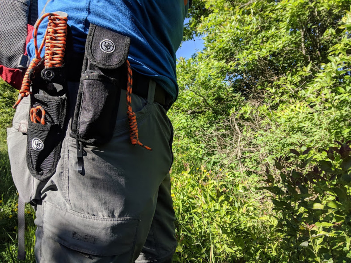 The Klik Belt holds up my gear as I hit the woods for bit of trail maintenance.