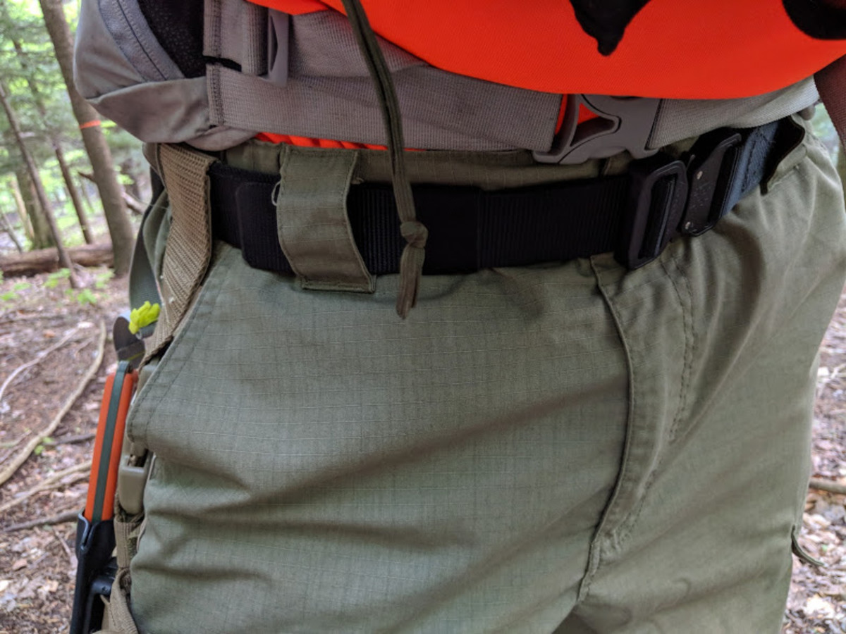 Using the two-ply tactical as a search and rescue belt.
