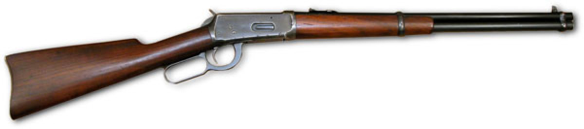 Many carbines, such as this Winchester Model 1894, are chambered for the effective .44 Magnum.