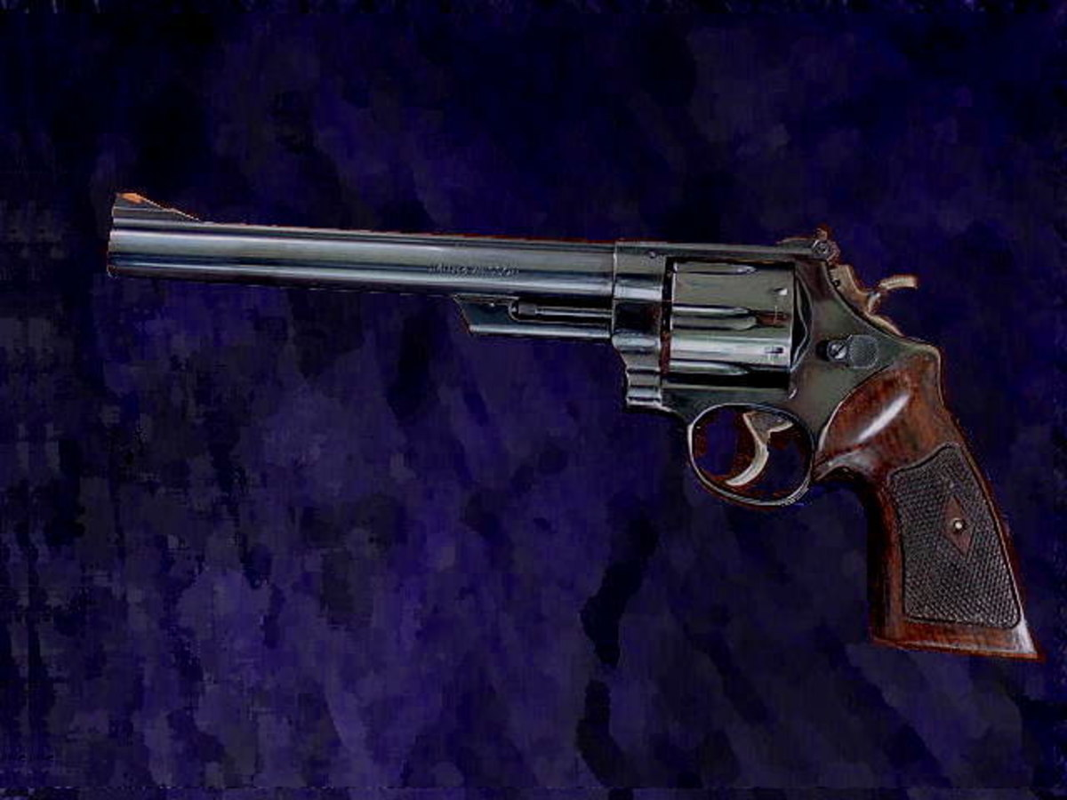 "The iconic S&W Model 29 .44 Magnum, made world famous by the ""Dirty Harry"" movie franchise."