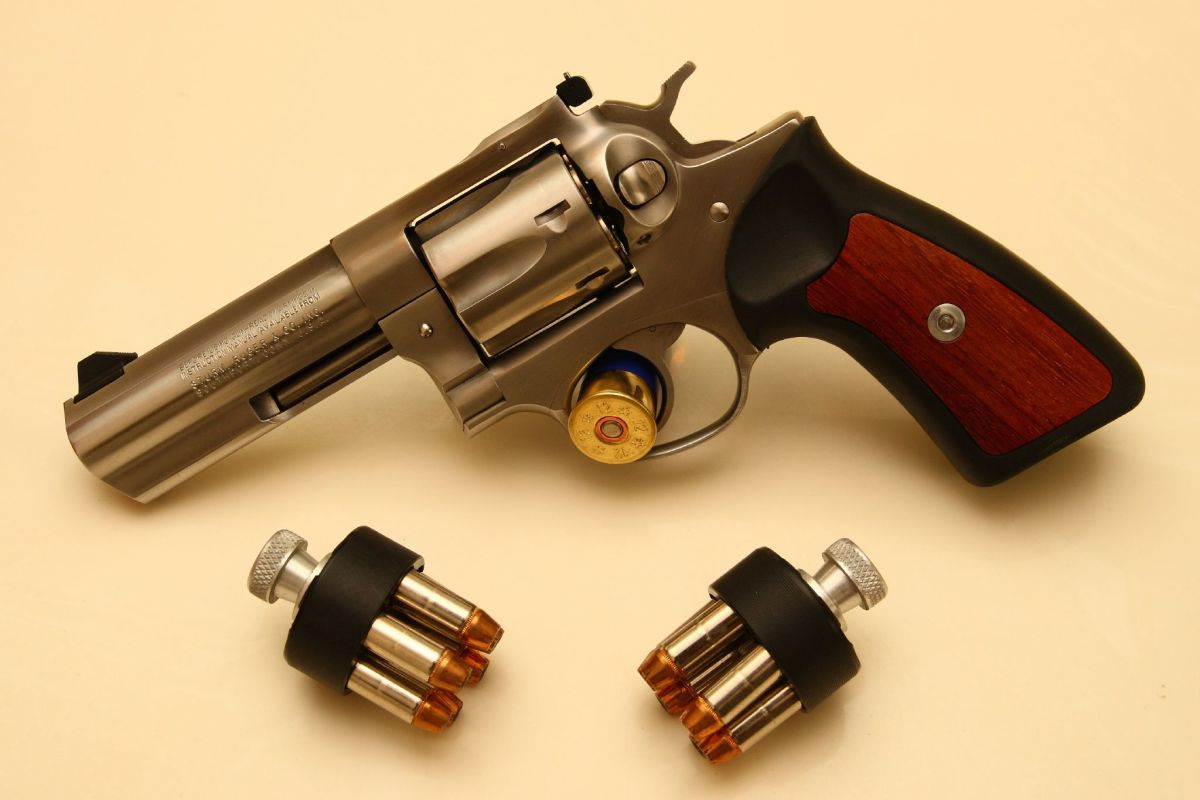 Full-size duty revolvers, such as this 4-inch Ruger GP-100 in .357 Magnum, are an excellent choice for a primary carry gun.
