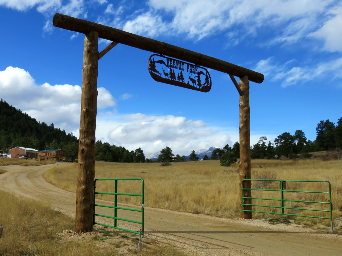 Entrance to the Hermit Park Open Space in Colorado
