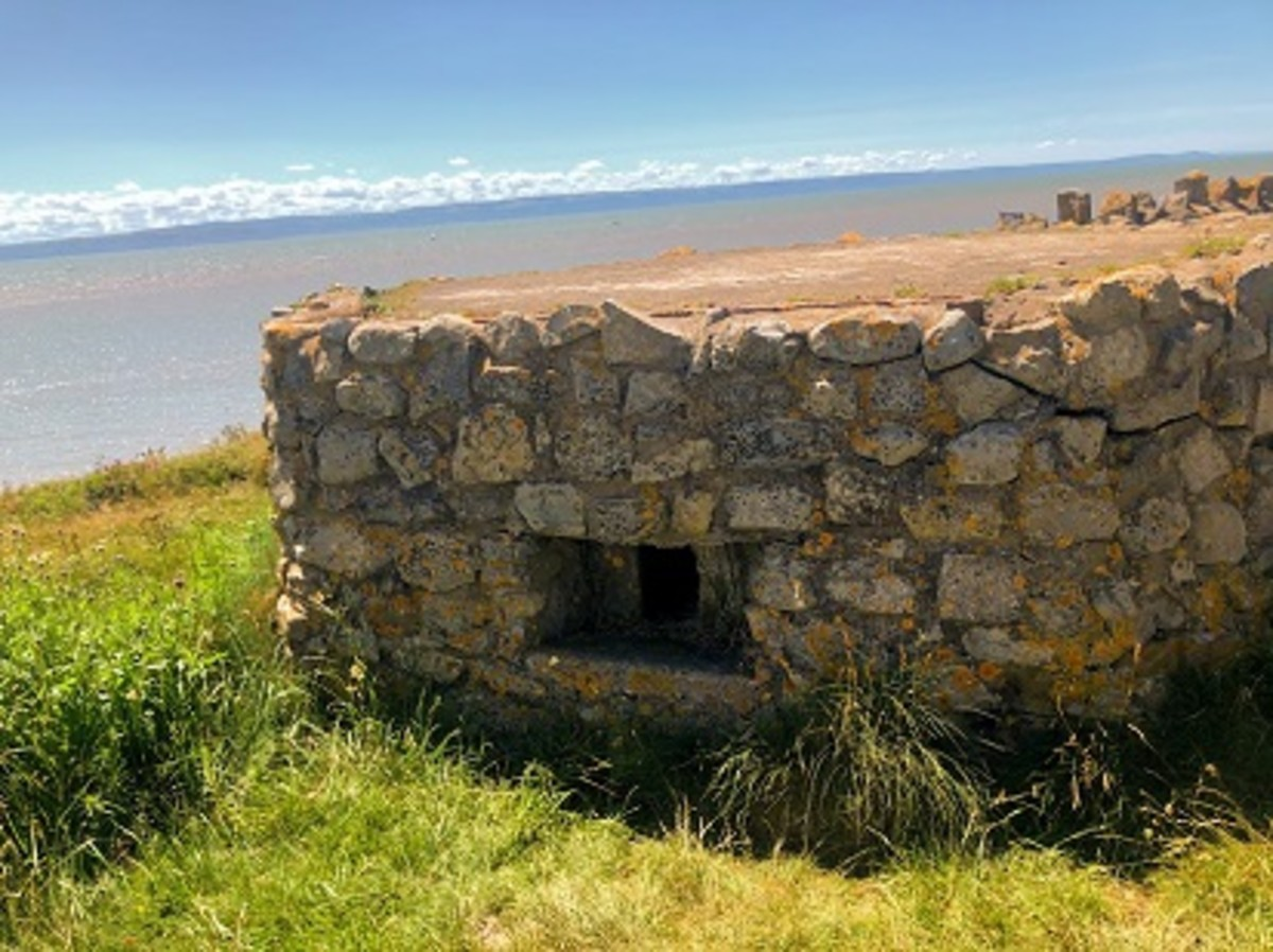 WWII pillbox overlooking the Bristol Channel
