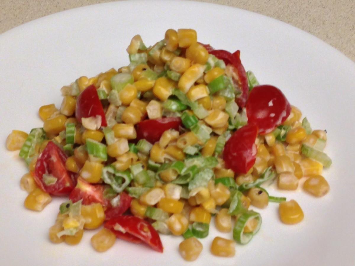 Weight Watchers Sweet & Sour Corn Salad