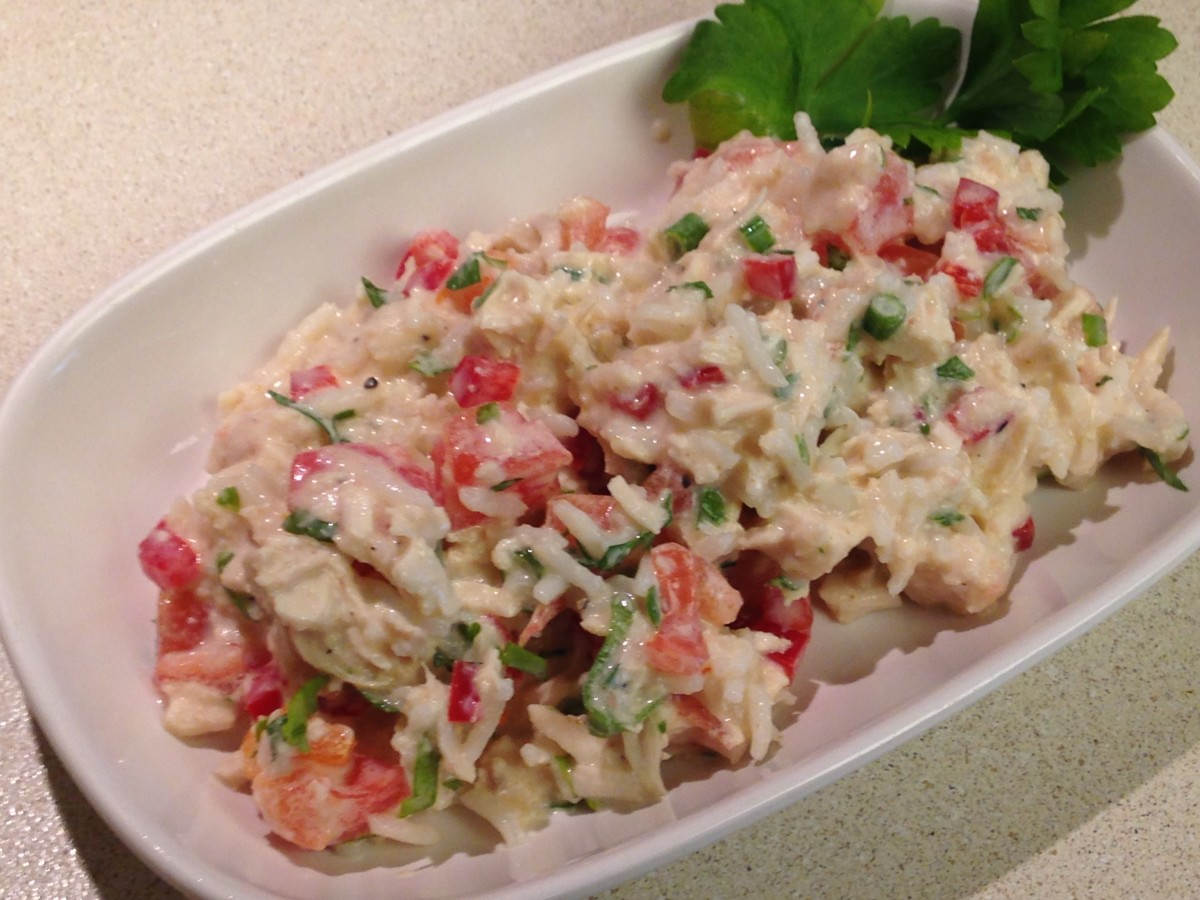 Curried Rice Salad with Chicken