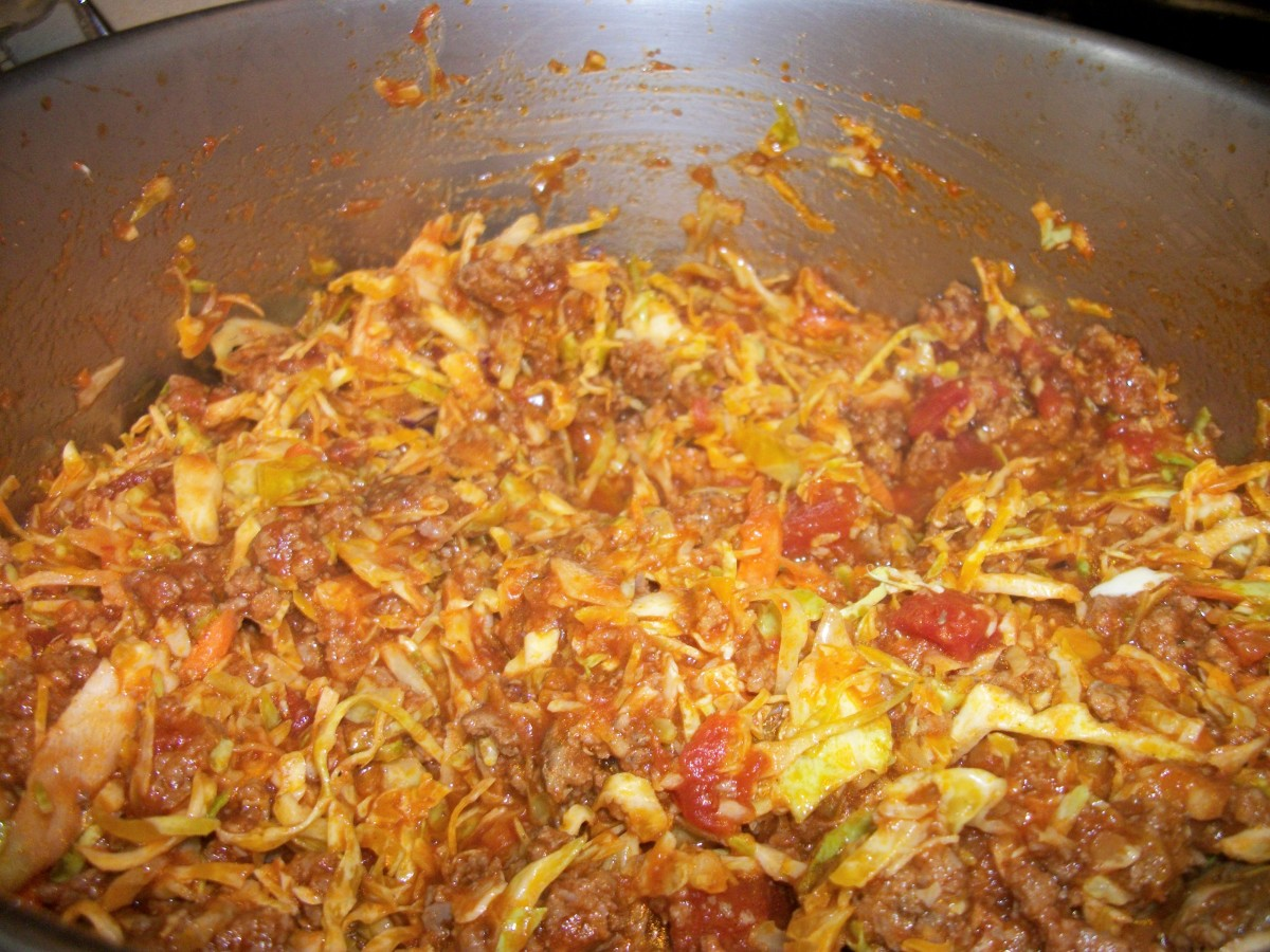 Add bag of cabbage and stir to combine.