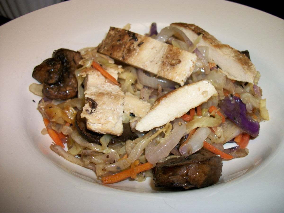 Stir-fry with chicken (no rice or pasta)