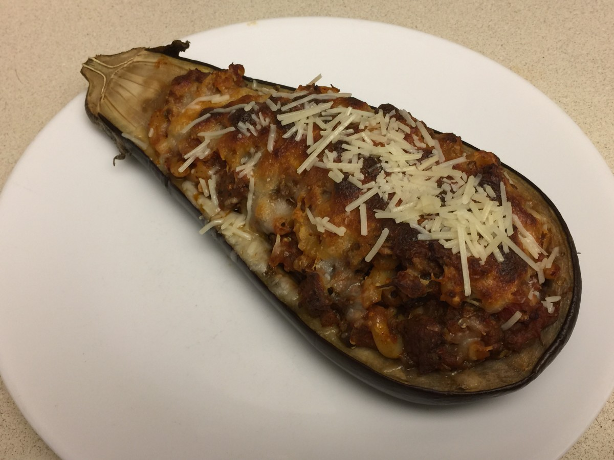 Weight Watchers Stuffed Eggplant