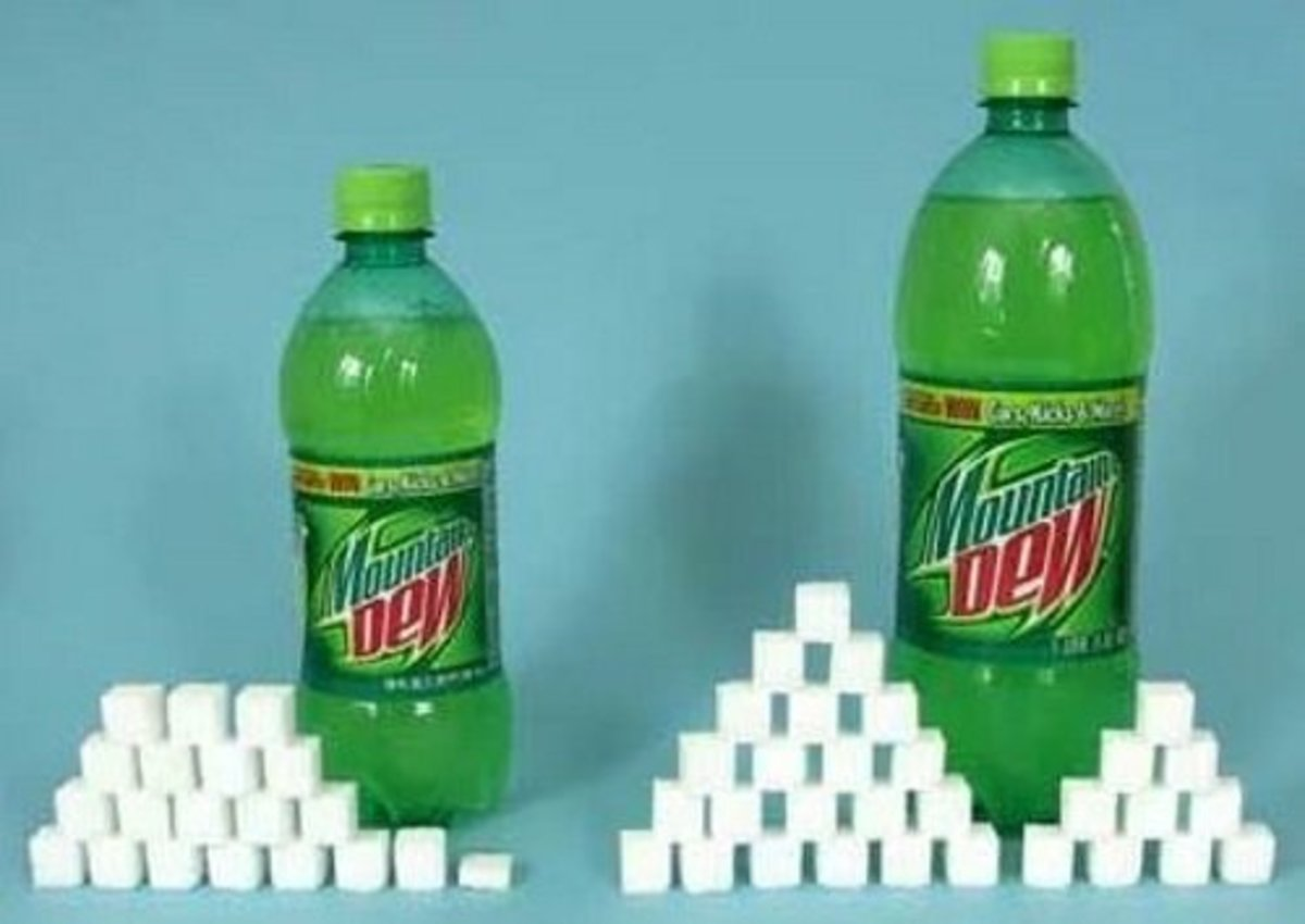 20 oz. Mountain Dew = 77 g sugar