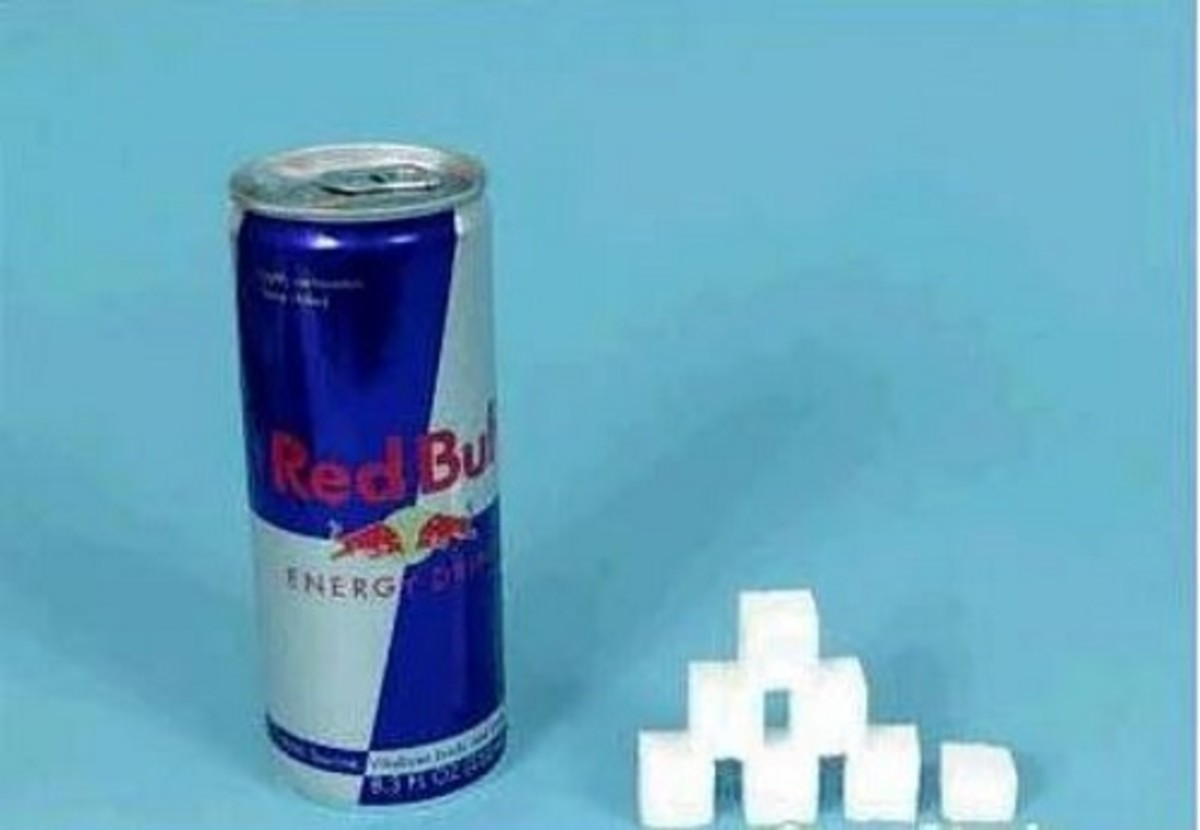 1 can Red Bull = 26 g sugar