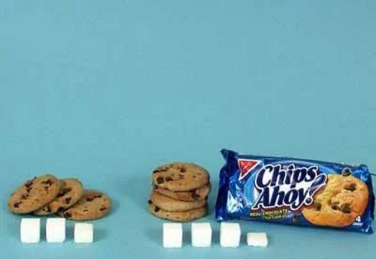 3 chocolate chip cookies = 11 g sugar