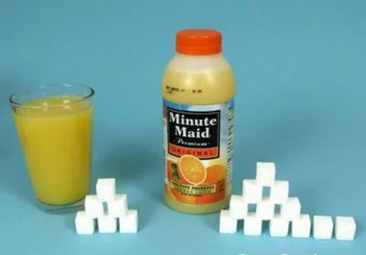 Small bottle OJ = 29 g sugar