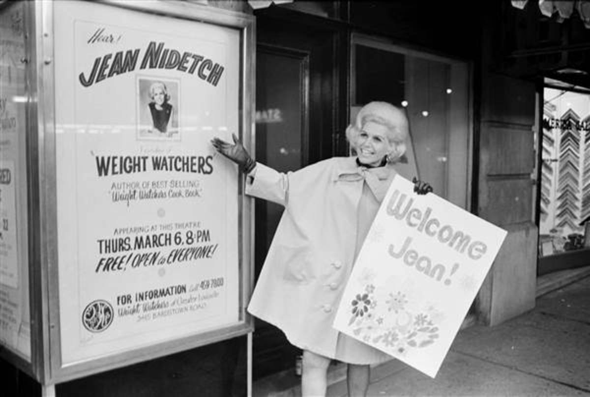 Weight Watcher Founder, Jean Nidetch, in Times Square, New York City