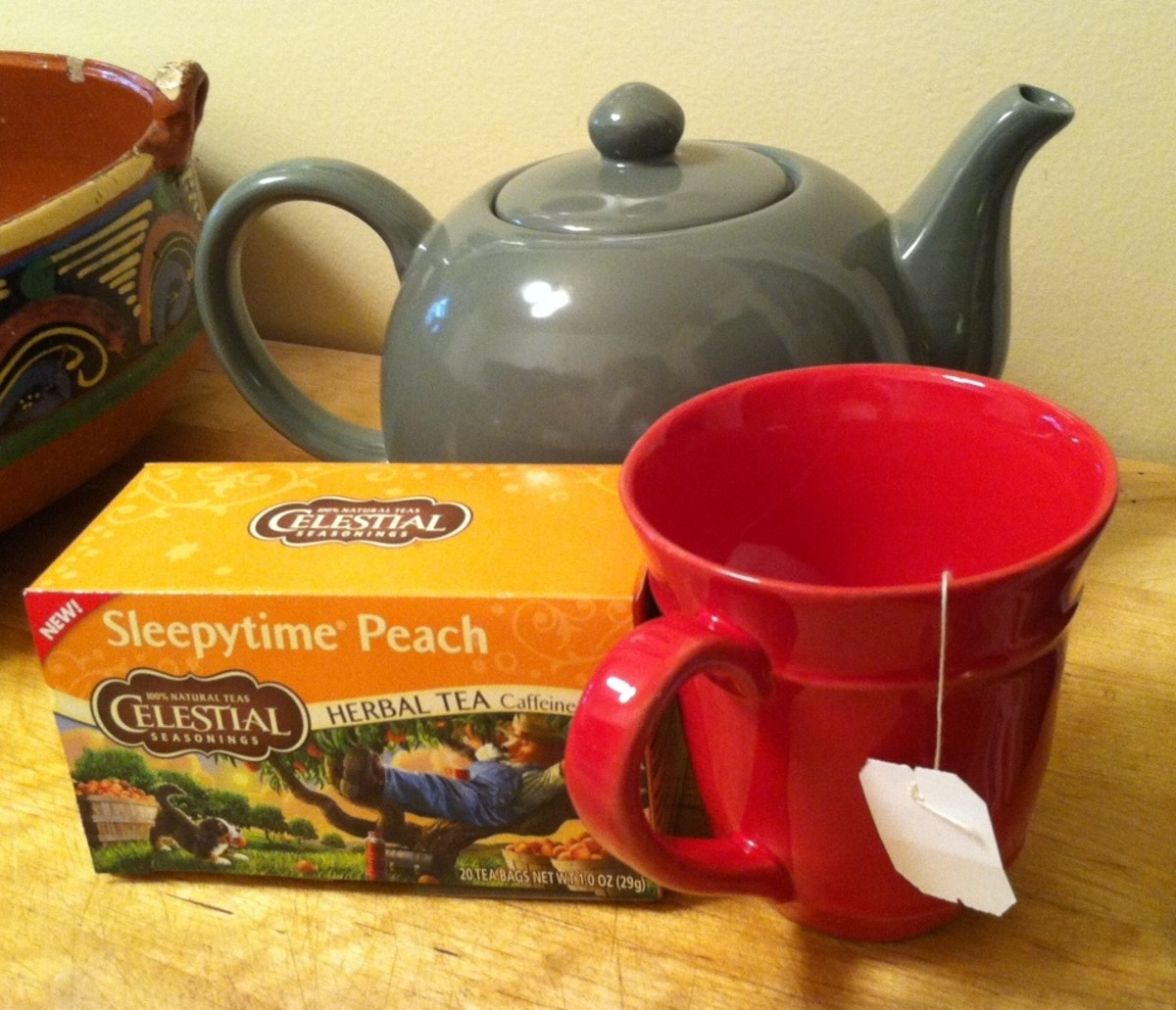 A calming cup of herbal tea before bed promotes good sleep.