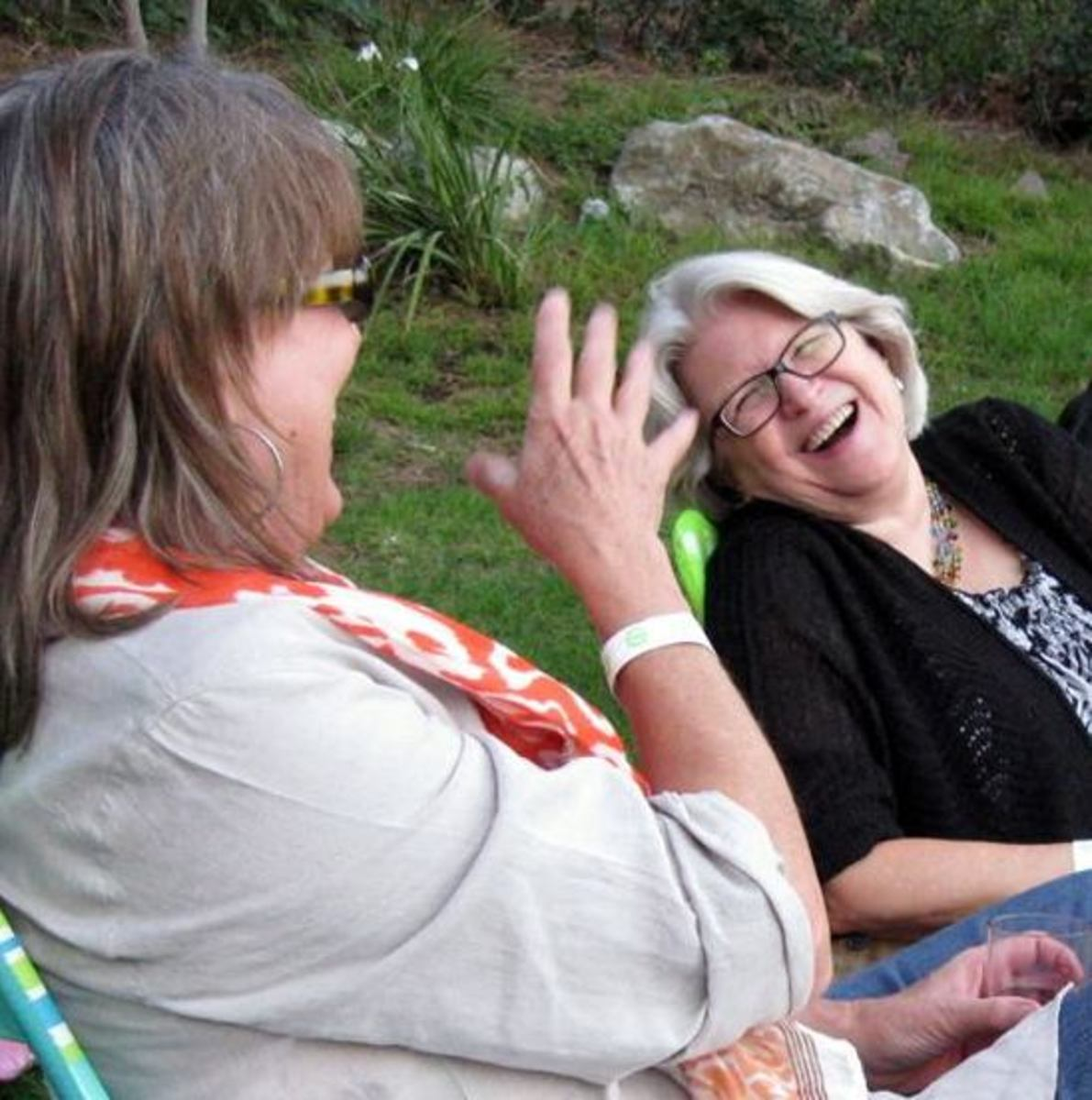 Laughter and companionship are keys to well-being and longevity.