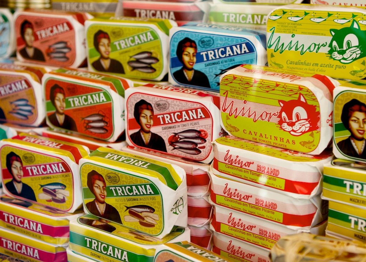 Portuguese canned sardines