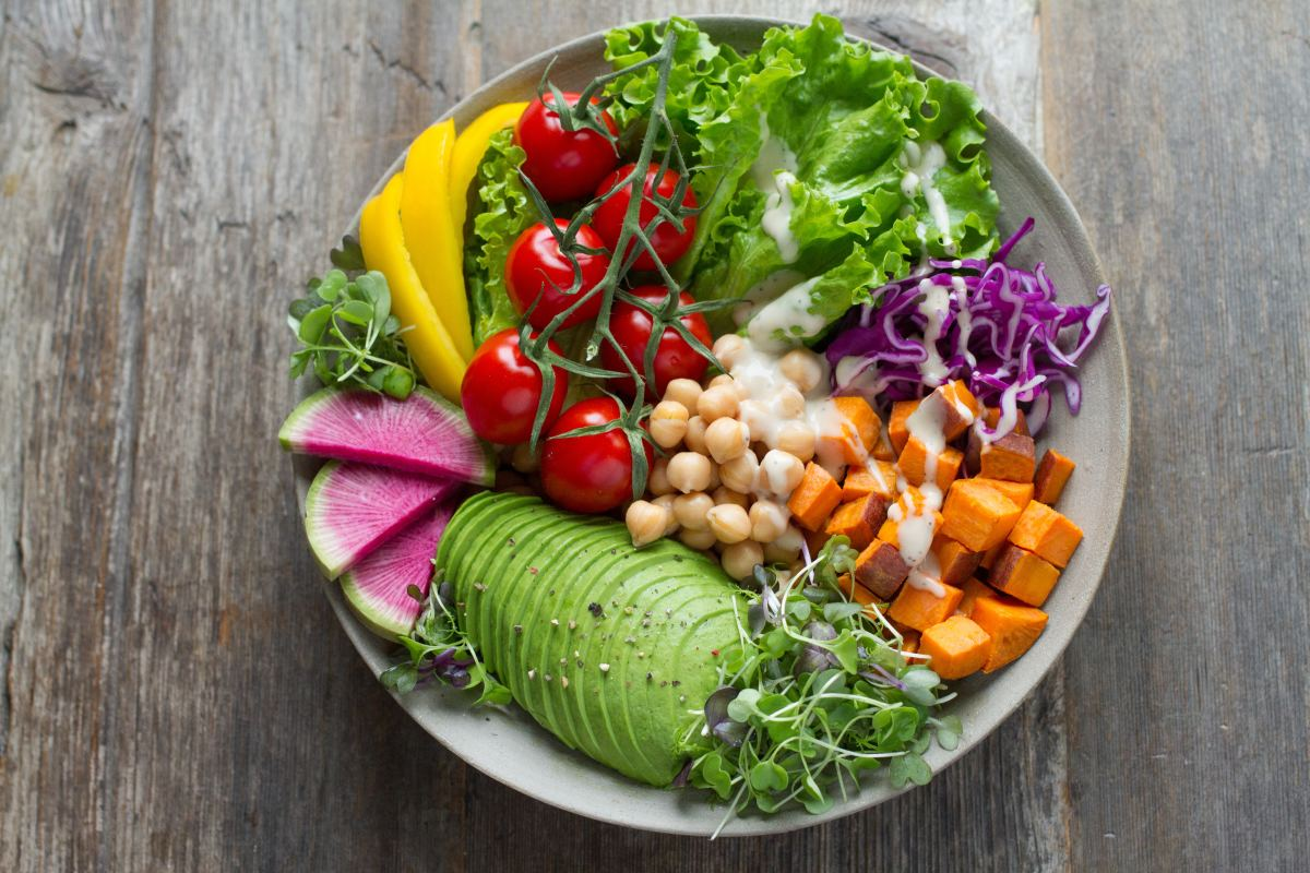 Raw vegetables contain natural food enzymes.