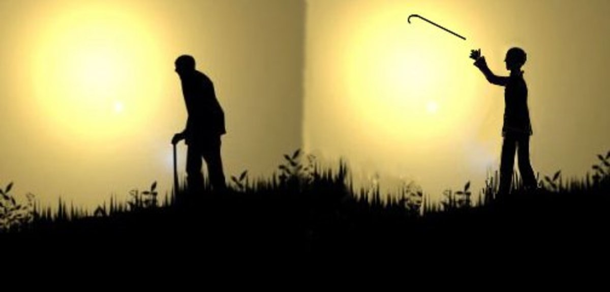 You don't actually shrink with age, merely fold up like an accordion, with over-curvature of the neck and spine .