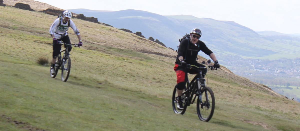 It's always good to know calories burned when riding a bicycle although these Mountain Bikers in the Peak District, UK look to be more concerned with having some fun