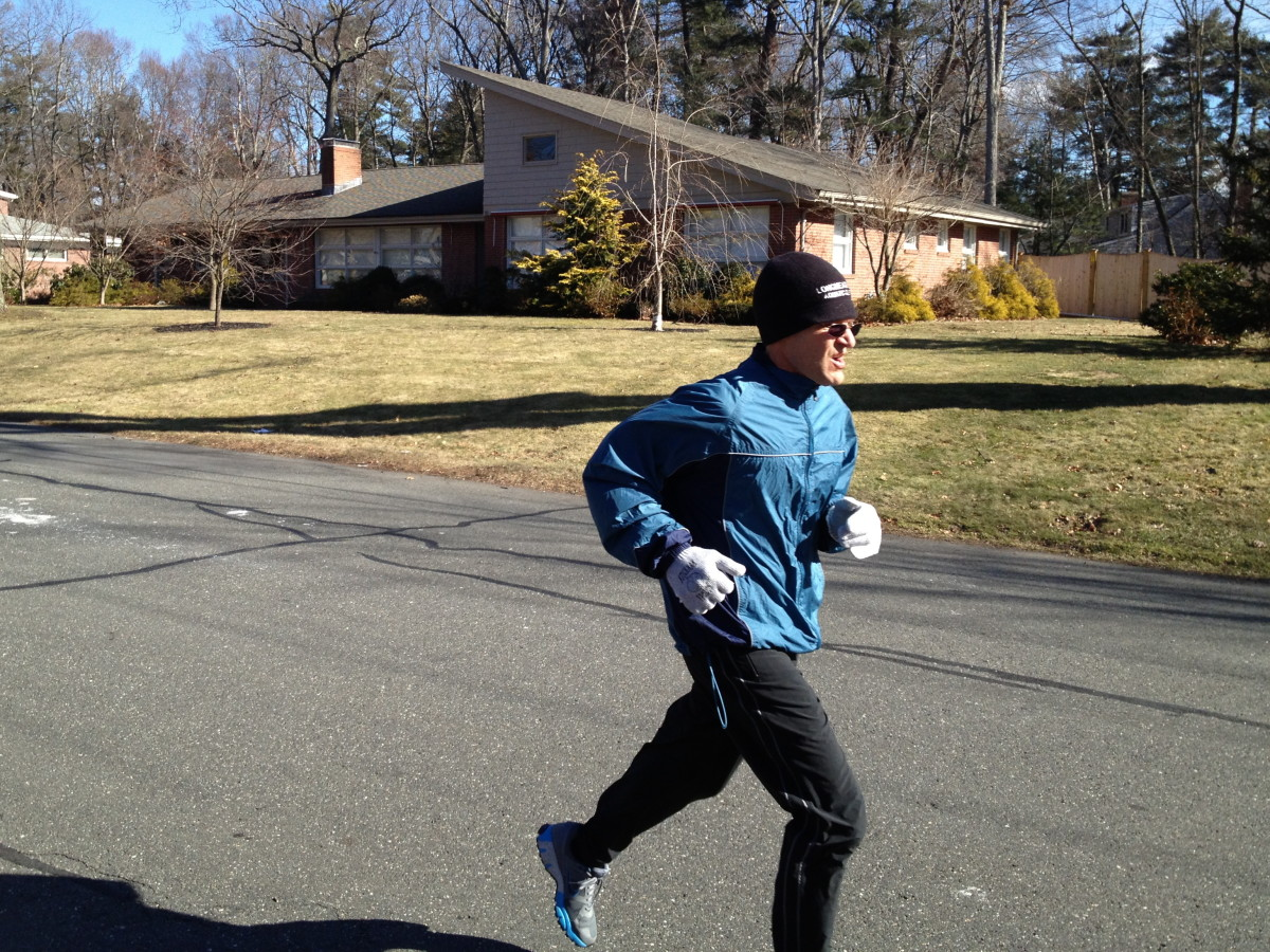Sometimes winter running is a breeze.