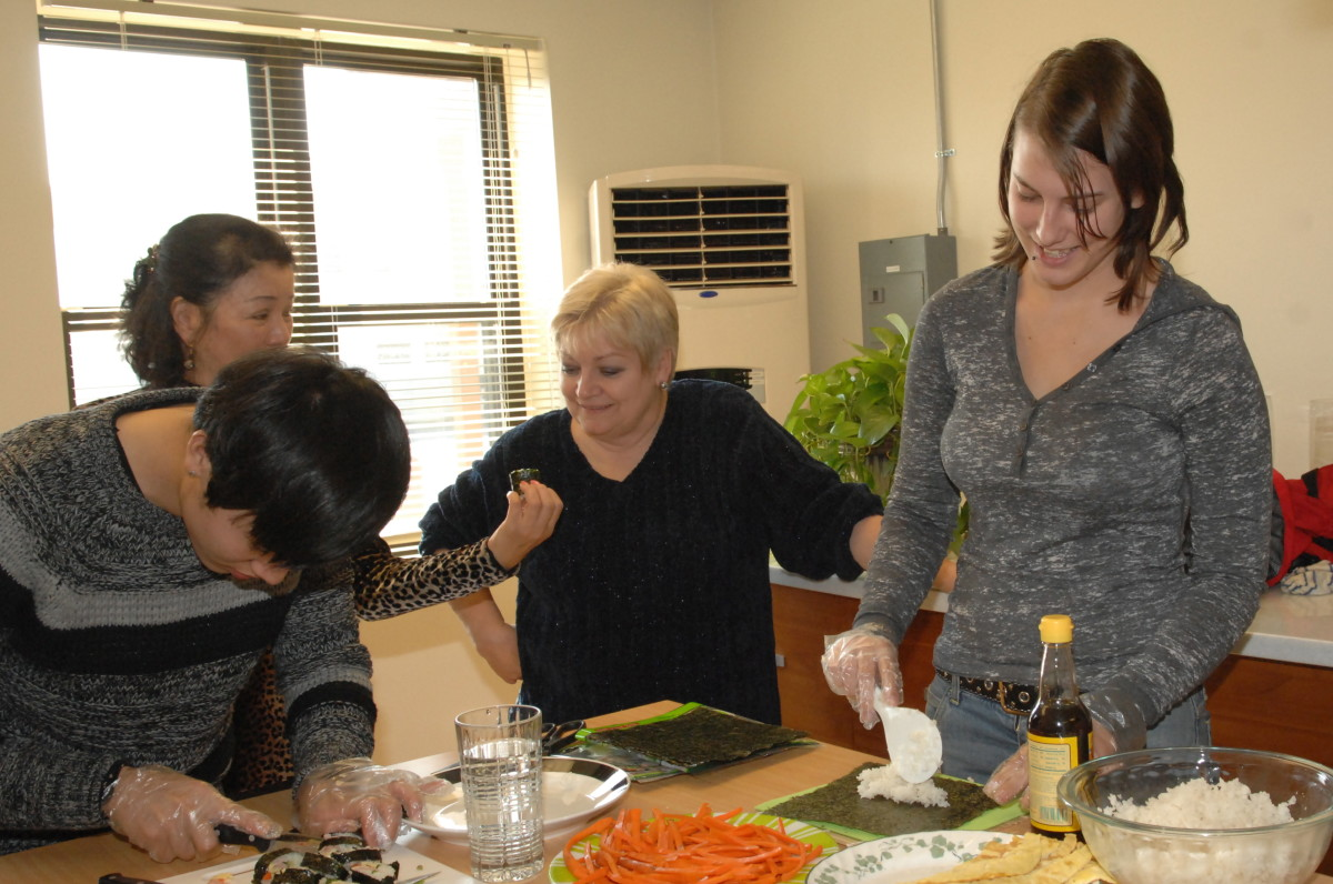 Take a healthy cooking class with your daughter.