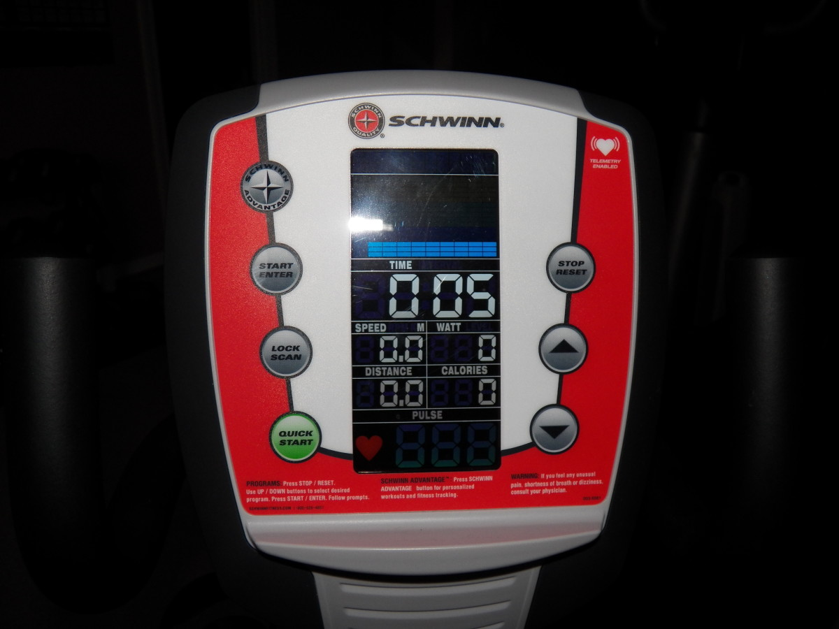 Many Schwinn exercise bikes have the telemetry system.