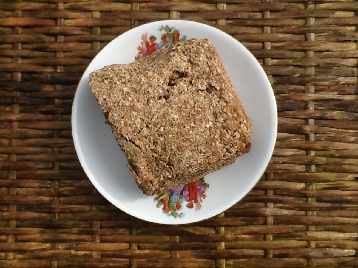 Whole grain bread is a good food for a healthy diet.