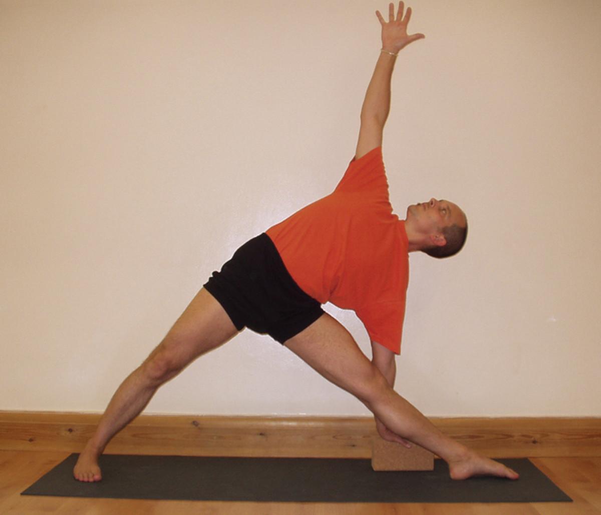 Iyengar Yoga student