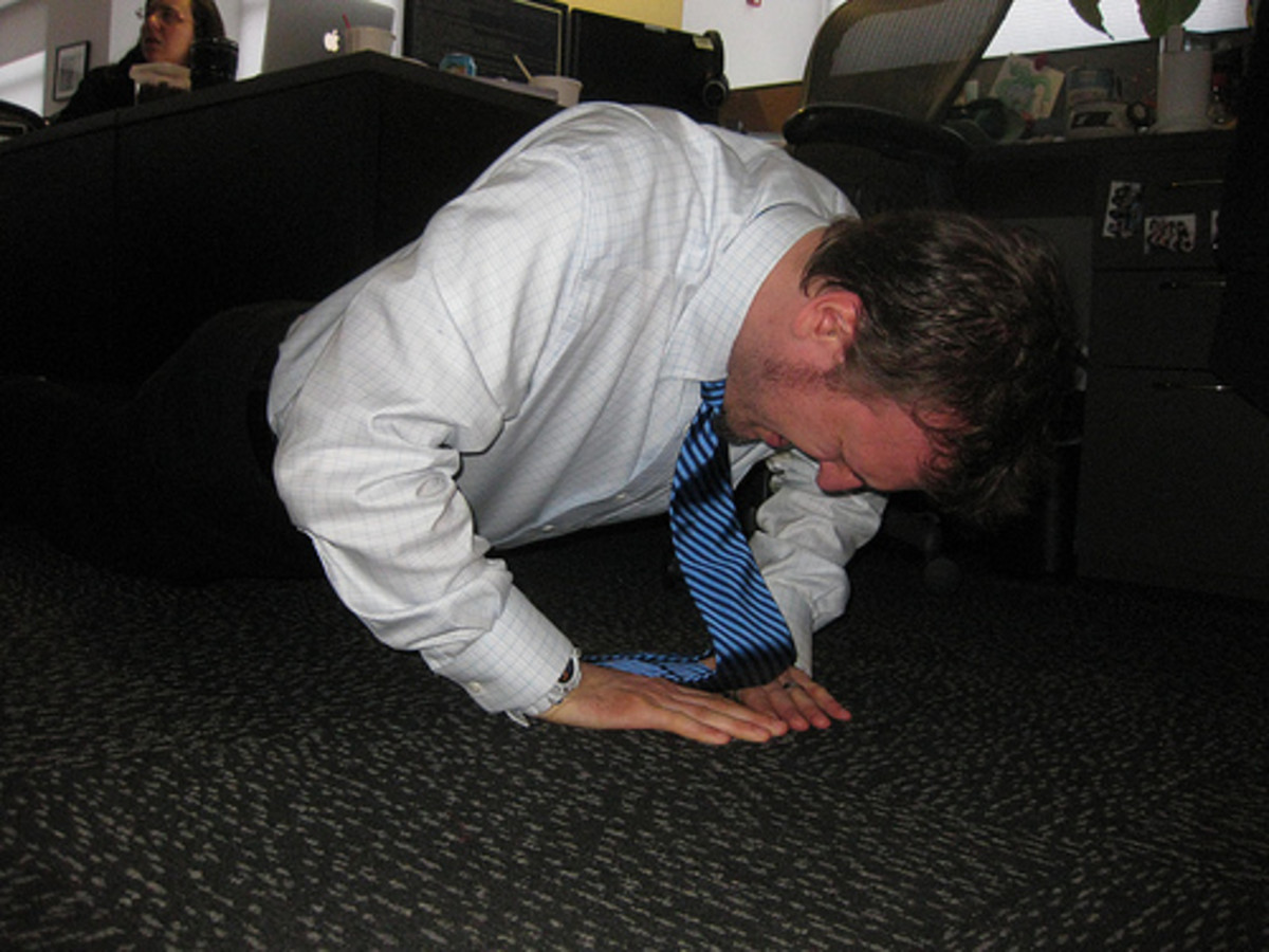 Diamond Push Ups: Send a Message on Casual Friday