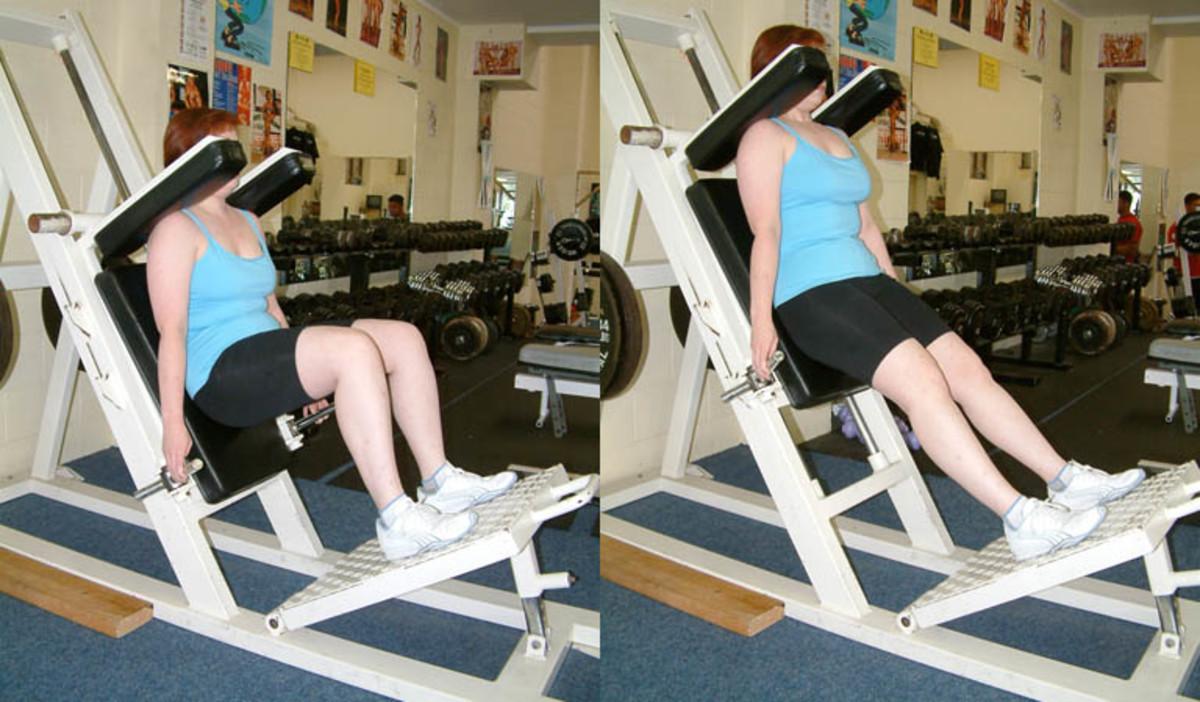 Smith machine squats.