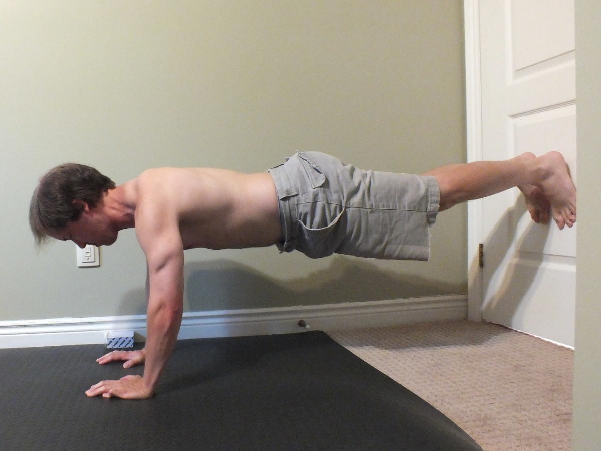 Wall push-ups.
