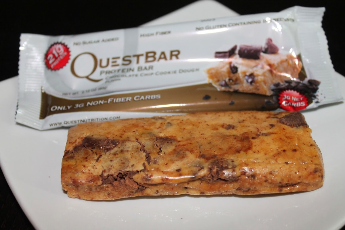 Chocolate Chip Cookie Dough Quest Bar: my favorite flavor!