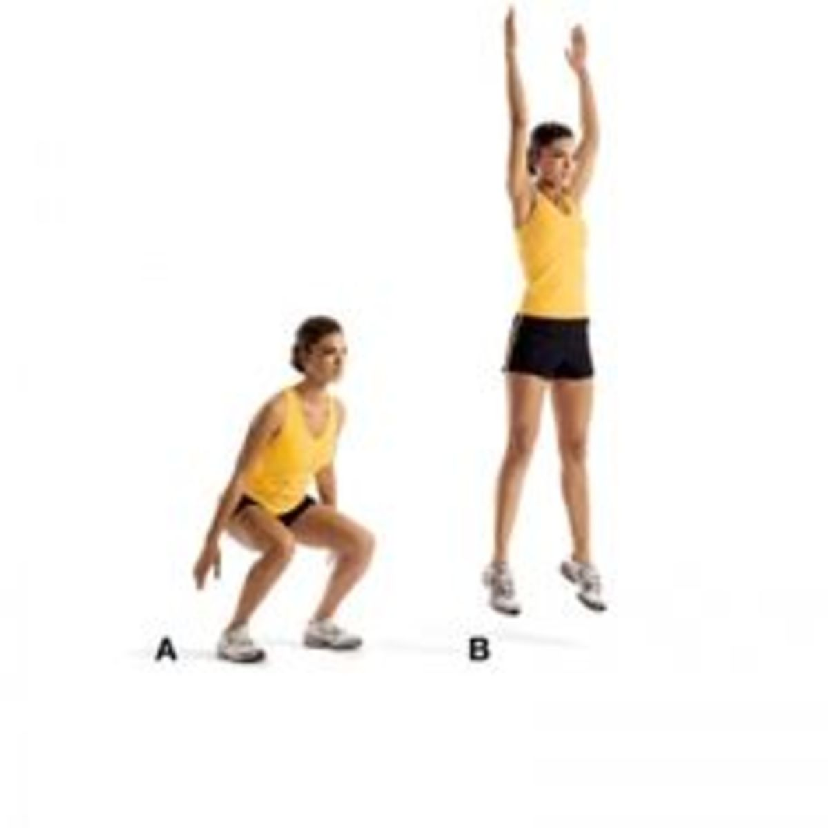 Squat Jumps: An explosive, power movement targeting the glutes and quadriceps.