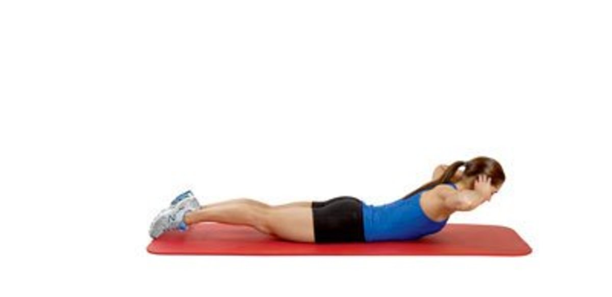 Back Extension: Adds balance to the routine by working the glutes and lower back.