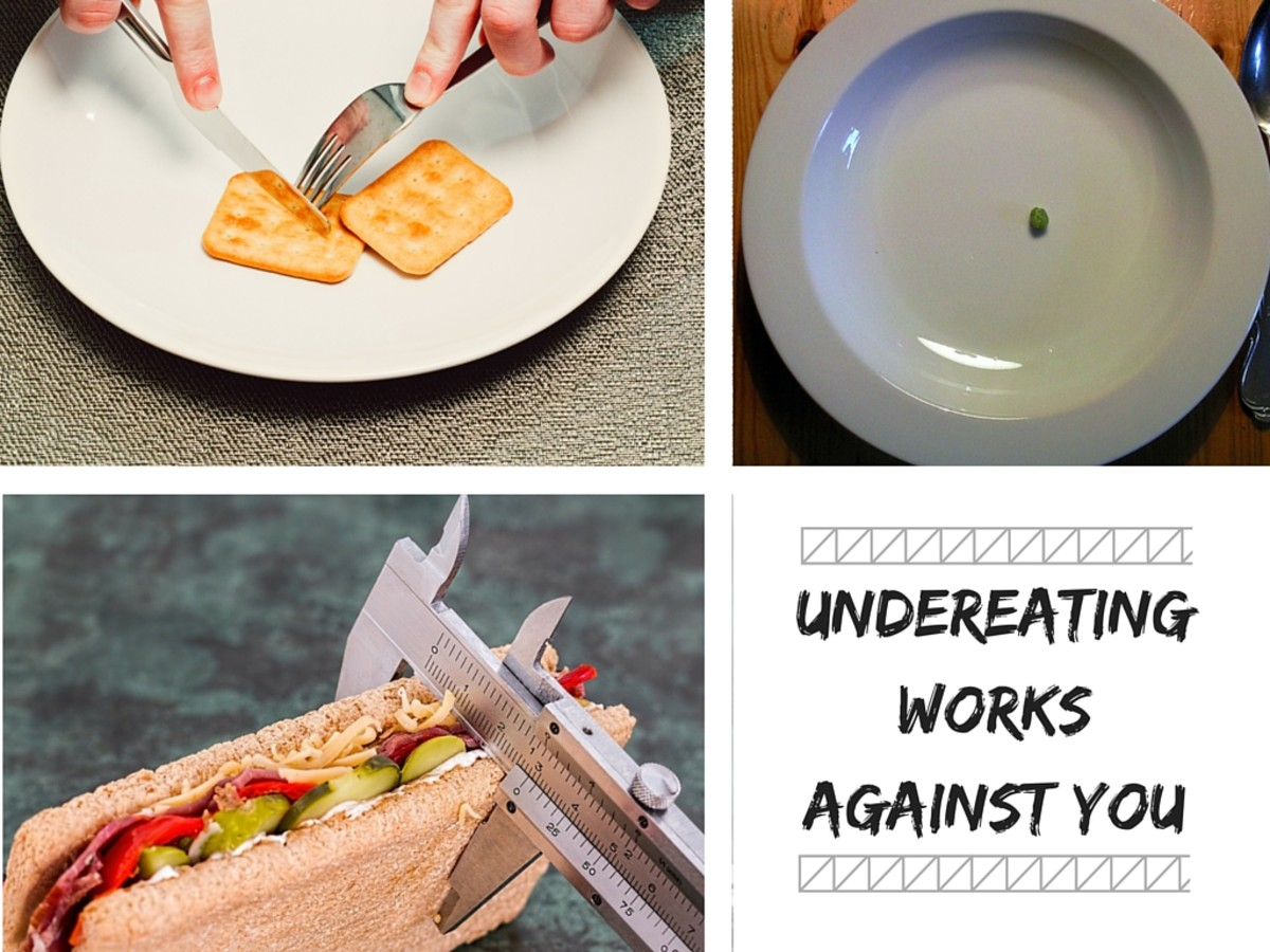Under-eating won't help you lose weight, It will slow down your metabolism significantly.
