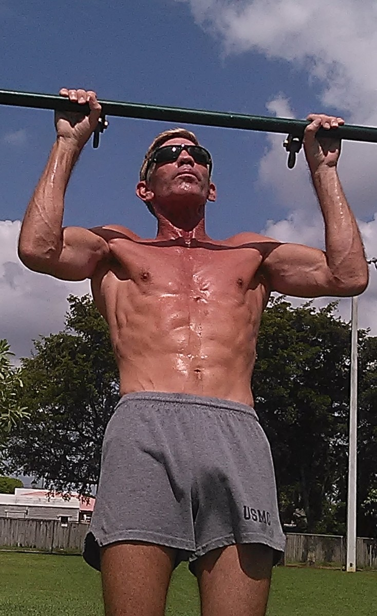 Pull-ups develop upper body strength and require core stabilization.